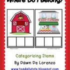 Where Do I Belong?  Categorizing Objects