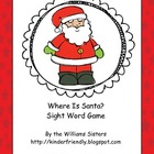 Where Is Santa? Sight Word Game