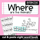 "Interactive Sight Word Reader ""Where are the Animals?"""