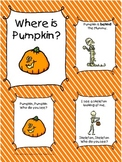 Where is Pumpkin? Pumpkin Emergent Readers, Pumpkin Activites