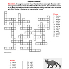Where the Red Fern Grows: Anagram Crossword--Challenging!
