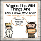 """""""Where the Wild Things Are""""  I have...Who has..? CVC Word Game"""