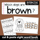 "Interactive Sight Word Reader ""Which Dogs are BROWN?"""