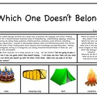 Which One Doesn't Belong:  Critical Thinking Activity For