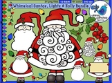 Whimsical Santas, Lights and Holly Bundle - Whimsy Worksho
