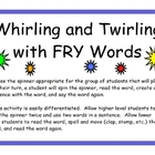Whirling and Twirling with FRY Words 276-500