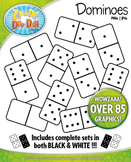 Dominoes Clip Art — Includes Both Black & White Sets!