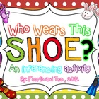 Who Wears This Shoe? {an inferencing activity}
