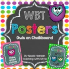 Whole Brain Teaching {WBT} Owls on Chalkboard Rules & Responses