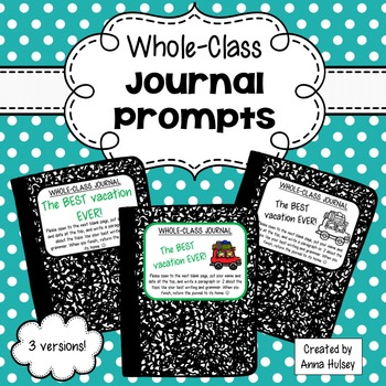 Whole-Class Journal Covers
