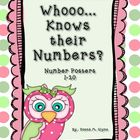 Whooo... Knows Their Numbers Posters