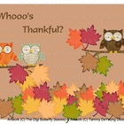 Whooo's Thankful Bulletin Board in a Bag