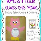 Who's In Our Class {Back to School Craftivity}