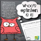 Whose Opinion Is It Anyway?: 10 Opinion Writing Prompts