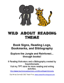Wild About Reading Theme - Jungle or Rainforest Reading Mo