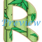 Jungle Bamboo Alphabet Clip Art Set