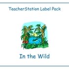 Wild Animals Label Pack