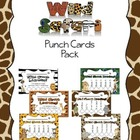 Wild Safari Punch Card Pack