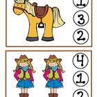 Wild West Clothespin Counting Game