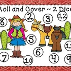 Wild West Roll and Cover Dice Game (4 games in 1)