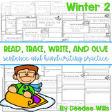 Winter 2 Read, Trace, Glue, and Draw