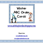 Winter ABC Order Cards