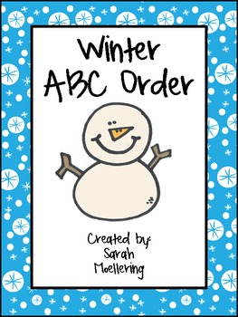 Winter ABC Order Game (Freebie!)
