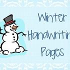 Winter Alphabet Handwriting