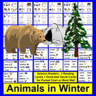 Winter Emergent Readers: Animals in Winter-3 Levels-4 Vers