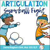 Snowball Fight: Winter Articulation Preschool