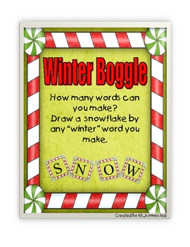 Winter Boggle Bulletin Board
