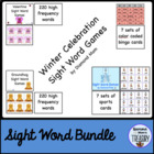 Winter Celebration Sight Word Games