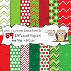 Winter / Christmas Digital Papers Set: Graphics for Teachers