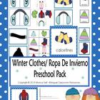 Winter Clothes/Ropa De Invierno Preschool Pack