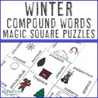 Winter Compound Words Magic Square Puzzle