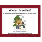 Winter Freebies! Common Core, math and literacy