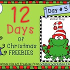 Winter Froggies FREE graphics (Whimsy Workshop Teaching)