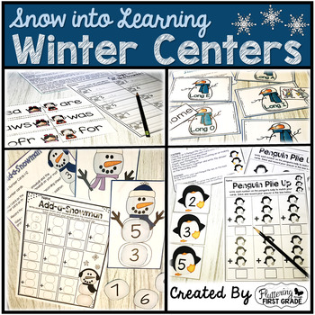 Winter - 'Frosty in First Grade' Common Core Math and Literacy for the Season