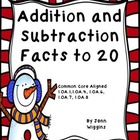 Winter Fun Math ~ Addition and Subtraction to 20