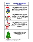 Winter Holiday Author's Purpose Rubric - Marzano Compatible