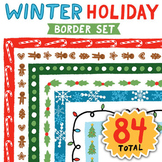 Clip Art: Winter Holiday Border Set - Borders for Personal