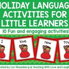 Winter Holiday Language Activities For Little Learners