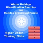 Winter Holidays Classification Exercise and Holiday Crossw