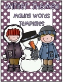 """Winter """"Let's Make Words"""" Templates!"""
