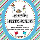 Winter Letter Recognition and Letter Match {Freebie}
