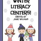 Winter Literacy Centers for grades 1-3: vocabulary, abc or