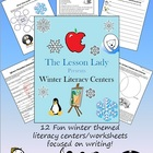 Winter Literacy Worksheets for Centers and Stations