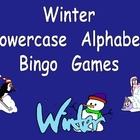 Winter Lowercase Alphabet Bingo Games- Set of 3 Preschool