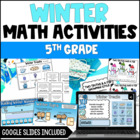 Winter Math Centers 4th and 5th Grade Common Core Aligned