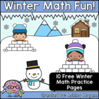 Winter Math Fun Freebie (10 Printable Math Practice Pages